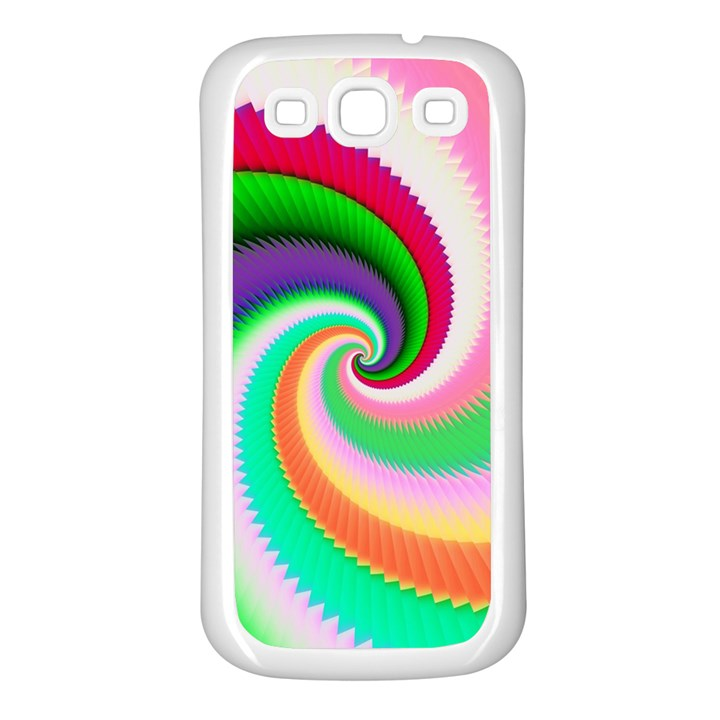 Colorful Spiral Dragon Scales   Samsung Galaxy S3 Back Case (White)