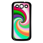 Colorful Spiral Dragon Scales   Samsung Galaxy S3 Back Case (Black) Front