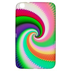 Colorful Spiral Dragon Scales   Samsung Galaxy Tab 3 (8 ) T3100 Hardshell Case