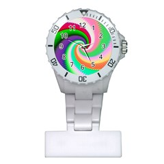 Colorful Spiral Dragon Scales   Plastic Nurses Watch