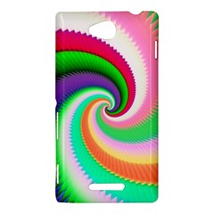 Colorful Spiral Dragon Scales   Sony Xperia C (S39H)