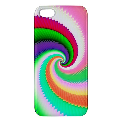 Colorful Spiral Dragon Scales   iPhone 5S/ SE Premium Hardshell Case