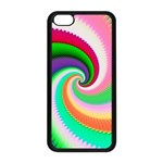 Colorful Spiral Dragon Scales   Apple iPhone 5C Seamless Case (Black) Front