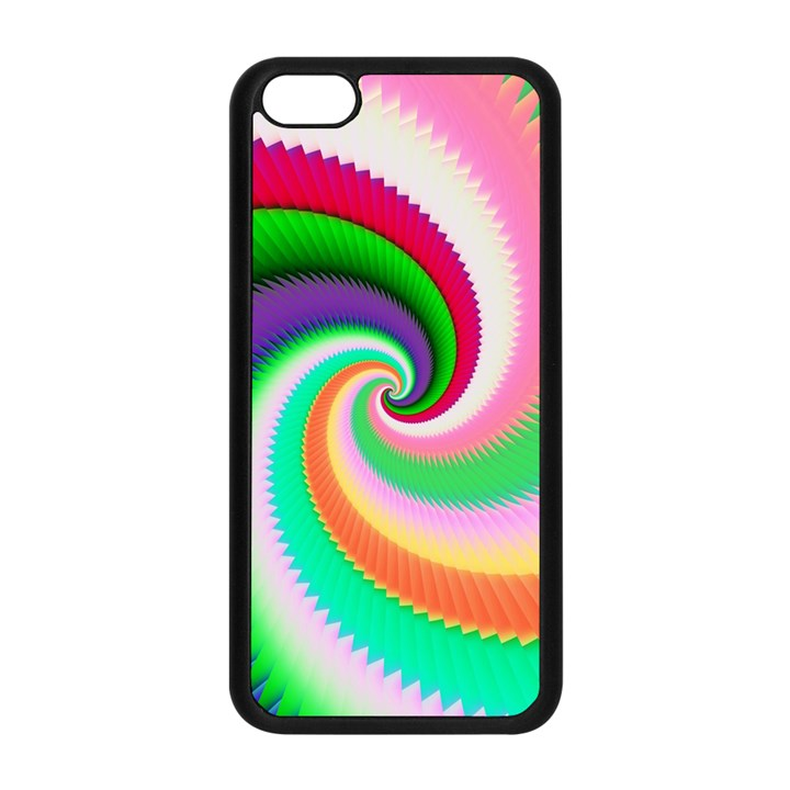 Colorful Spiral Dragon Scales   Apple iPhone 5C Seamless Case (Black)