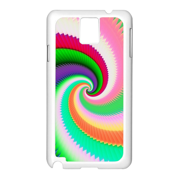 Colorful Spiral Dragon Scales   Samsung Galaxy Note 3 N9005 Case (White)