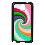 Colorful Spiral Dragon Scales   Samsung Galaxy Note 3 N9005 Case (Black) Front
