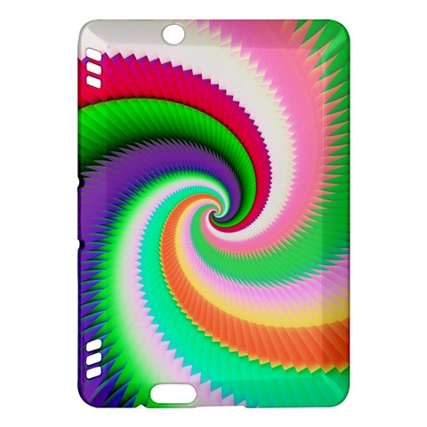 Colorful Spiral Dragon Scales   Kindle Fire HDX Hardshell Case