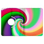 Colorful Spiral Dragon Scales   Kindle Fire HDX Flip 360 Case Front