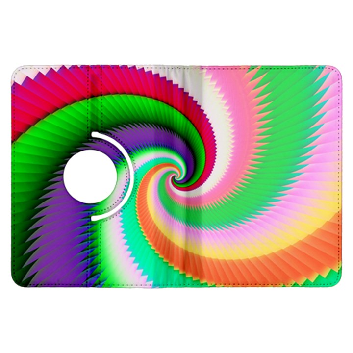 Colorful Spiral Dragon Scales   Kindle Fire HDX Flip 360 Case