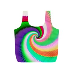 Colorful Spiral Dragon Scales   Full Print Recycle Bags (s)