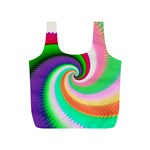 Colorful Spiral Dragon Scales   Full Print Recycle Bags (S)  Back
