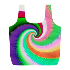 Colorful Spiral Dragon Scales   Full Print Recycle Bags (L)