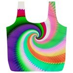 Colorful Spiral Dragon Scales   Full Print Recycle Bags (L)  Back