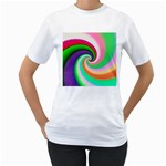 Colorful Spiral Dragon Scales   Women s T-Shirt (White)  Front
