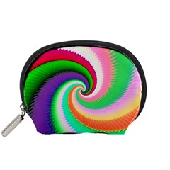 Colorful Spiral Dragon Scales   Accessory Pouches (small)