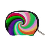 Colorful Spiral Dragon Scales   Accessory Pouches (Small)  Back