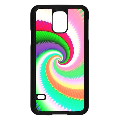 Colorful Spiral Dragon Scales   Samsung Galaxy S5 Case (Black)