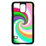 Colorful Spiral Dragon Scales   Samsung Galaxy S5 Case (Black) Front