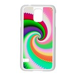 Colorful Spiral Dragon Scales   Samsung Galaxy S5 Case (White) Front