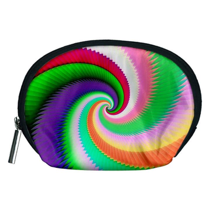 Colorful Spiral Dragon Scales   Accessory Pouches (Medium)