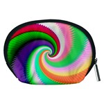 Colorful Spiral Dragon Scales   Accessory Pouches (Medium)  Back