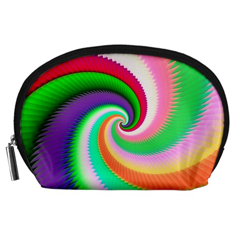Colorful Spiral Dragon Scales   Accessory Pouches (Large)