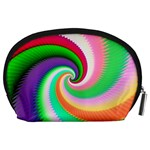 Colorful Spiral Dragon Scales   Accessory Pouches (Large)  Back