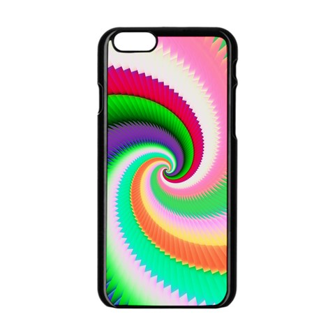 Colorful Spiral Dragon Scales   Apple iPhone 6/6S Black Enamel Case