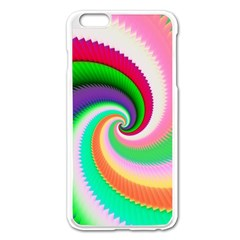 Colorful Spiral Dragon Scales   Apple iPhone 6 Plus/6S Plus Enamel White Case