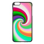 Colorful Spiral Dragon Scales   Apple iPhone 6 Plus/6S Plus Black Enamel Case Front