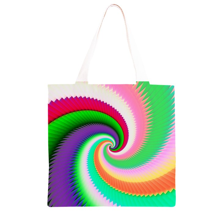 Colorful Spiral Dragon Scales   Grocery Light Tote Bag