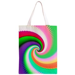 Colorful Spiral Dragon Scales   Classic Light Tote Bag
