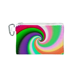 Colorful Spiral Dragon Scales   Canvas Cosmetic Bag (s)