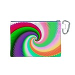 Colorful Spiral Dragon Scales   Canvas Cosmetic Bag (M) Back