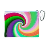 Colorful Spiral Dragon Scales   Canvas Cosmetic Bag (XL) Back