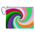 Colorful Spiral Dragon Scales   Canvas Cosmetic Bag (XXL) Front