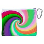 Colorful Spiral Dragon Scales   Canvas Cosmetic Bag (XXL) Back