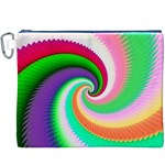 Colorful Spiral Dragon Scales   Canvas Cosmetic Bag (XXXL) Front