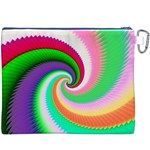 Colorful Spiral Dragon Scales   Canvas Cosmetic Bag (XXXL) Back