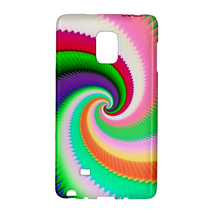 Colorful Spiral Dragon Scales   Galaxy Note Edge