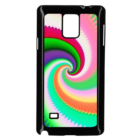 Colorful Spiral Dragon Scales   Samsung Galaxy Note 4 Case (Black)