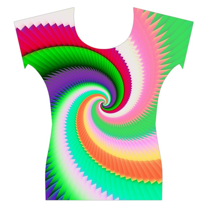 Colorful Spiral Dragon Scales   Women s Cap Sleeve Top