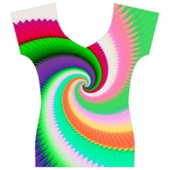 Colorful Spiral Dragon Scales   Women s V-Neck Cap Sleeve Top