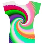 Colorful Spiral Dragon Scales   Women s V-Neck Cap Sleeve Top Back