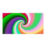 Colorful Spiral Dragon Scales   Satin Wrap Front