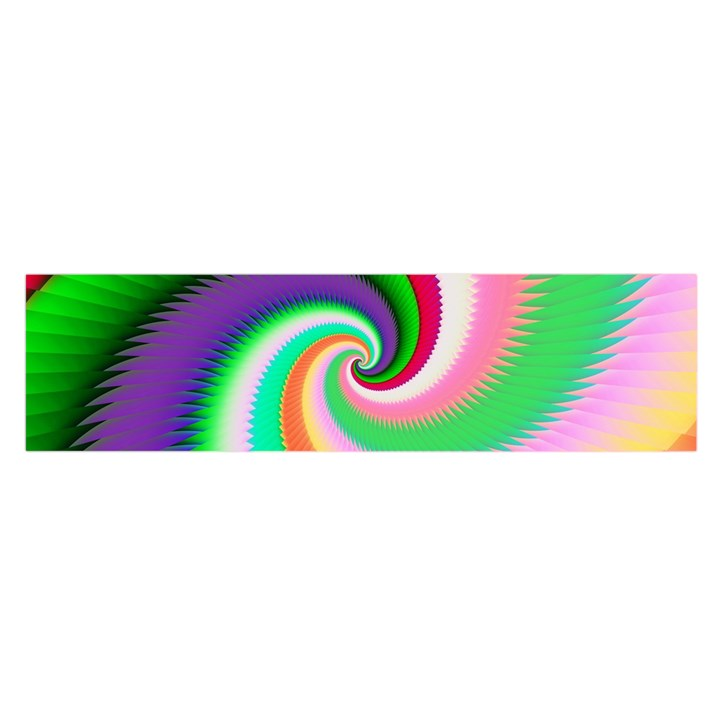 Colorful Spiral Dragon Scales   Satin Scarf (Oblong)