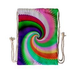 Colorful Spiral Dragon Scales   Drawstring Bag (Small)