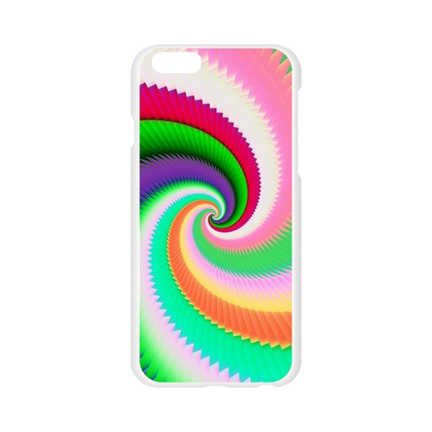 Colorful Spiral Dragon Scales   Apple Seamless iPhone 6/6S Case (Transparent)