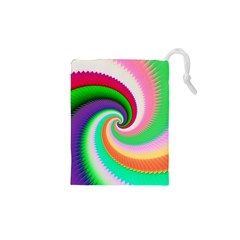 Colorful Spiral Dragon Scales   Drawstring Pouches (xs)