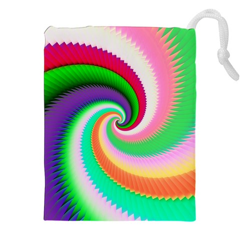 Colorful Spiral Dragon Scales   Drawstring Pouches (XXL)